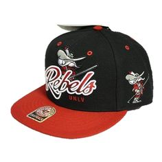 UNLV Rebels 47 Brand Snapback Hat Black Red 658d97505