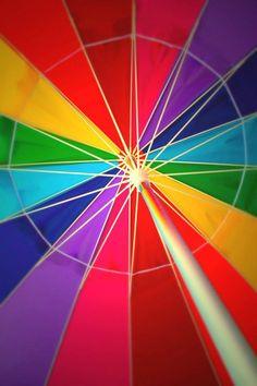 rainbow inside umbrella