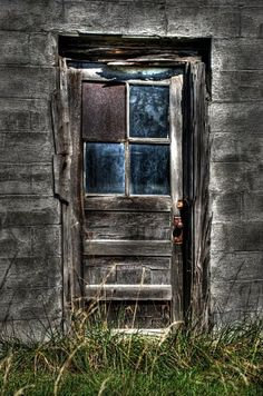 run down...…..WELL, SHADES OF MY HUBBY…….HIS IDEA OF INSTALLING A NEW WINDOW PANE - WHERE THE OLD ONE BROKE………….ccp