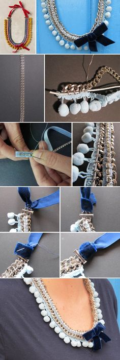 Anthropologie, Crochet Necklace, Handmade, Jewelry, Fashion, Moda, Hand Made, Jewlery, Schmuck