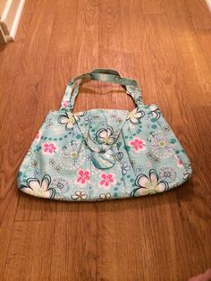 Large Brightly Colored Floral Daisy Print Handbag Purse available in my Etsy shop: BagsByBetty54