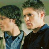 [GIF] We don't get to see Jensen's dimples as much as Jared's but when we do, it's devastating!