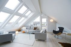 Looking for interior loft inspiration? Take a look at our brand new Loft Conversion gallery for ideas. Attic Renovation, Attic Remodel, Loft Room, Bedroom Loft, Loft Spaces, Living Spaces, Living Room, Living Area, Loft Apartments