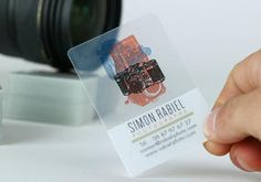 Transparent business cards with rounded corners