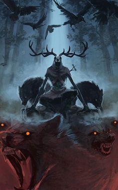 Dark Fantasy Art, Fantasy Artwork, Fantasy Kunst, Fantasy World, Dark Art, Art Sinistre, Witcher Wallpaper, The Ancient Magus, Arte Obscura