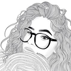 S photos, drawings and gif outline face Tumblr Girl Drawing, Tumblr Sketches, Tumblr Drawings, Easy Drawings, Drawing Sketches, Girl Drawings, Tumblr Bff, Art Tumblr, Girl Outlines