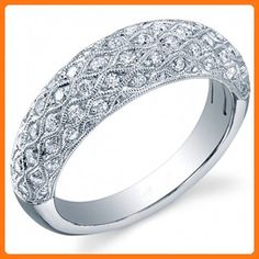 Round Cut Diamond Wedding Ring 14k White Gold or Yellow Gold or Rose Gold Anniversary Ring Wedding Band HANDMADE Free Shipping