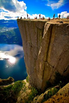 vacation travel photos - Pulpit Rock, Norway Wish this was near me. What a great place to go and reflect on things. Places Around The World, The Places Youll Go, Places To See, Dream Vacations, Vacation Spots, Vacation Travel, Norway Vacation, Usa Travel, Pulpit Rock Norway