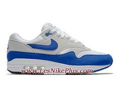 size 40 e41ef 45ea4 Sneaker Nike Air Max 1 Anniversary Royal Chaussures Nike Prix Pas Cher Pour Homme  Bleu Blanc