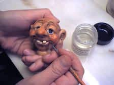 Troll head - how to make plus the rest of his body - Polymer Clay Dolls Fairies Trolls Tutorials