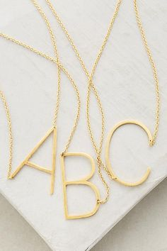 A perfect little gift from moms + friends + sisters | Anthropologie Monogram Pendant Necklace