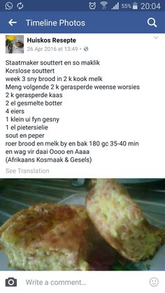 Braai Recipes, Cooking Recipes, Kos, Lamb Shank Recipe, Cut Recipe, South African Recipes, Savoury Baking, Picnic Foods, Quiche Recipes