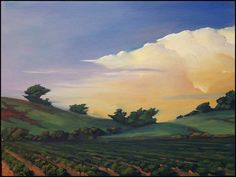 Hawkins Impressionist Art Oil Landscape California by ARTpaco Buy Paintings, Landscape Paintings, Landscapes, Impressionist Art, Impressionism, California Art, Art Oil, Watercolour, Vineyard
