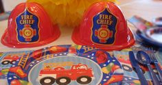 Boys Birthday Party  Fire Engine Fun 4th Birthday, Birthday Parties, Fireman Party, Kids Party Supplies, Fire Engine, 1st Birthdays, Party Ideas, Boys, Fun