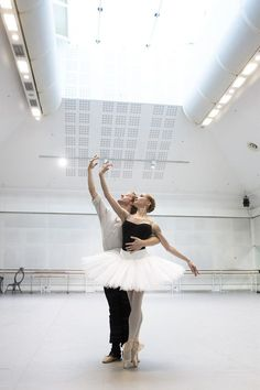 Steven McRae and Iana Salenko in rehearsal for The Nutcracker, The Royal Ballet © 2015 ROH. Photograph by Andrej Uspenski | by Royal Opera House Covent Garden