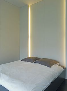 Bedroom - Beautiful lighting inside this interior by Belgian office Minus.