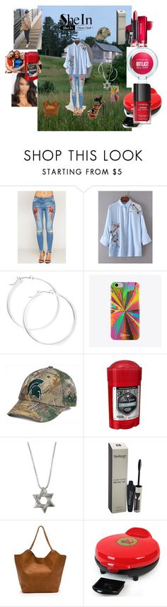 """""""Shein flower blouse contest ICL"""" by naomig-dix ❤ liked on Polyvore featuring claire's, UPROSA, Top of the World, Old Spice, COVERGIRL and Nostalgia"""