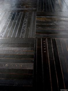 leather belts as floor