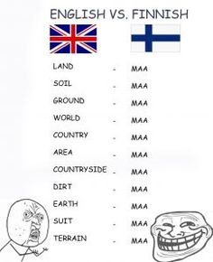 A prime example of how Finnish is simply ingenious, and easy. You can do so very much with so little words.