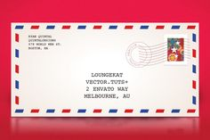 Quick Tip: How to make a Classic Air Mail Envelope with Adobe Illustrator | Vectortuts+