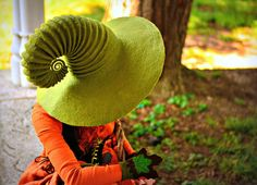 Here is some unique wearable art for your next geeky adventure. This wide-brim handmade felted wool hat, perfect for Halloween costumes, witch and wizard enthusiasts, RPG cosplayers, LARPers, and lovers of games and fantasy adventures of all kinds. I make each hat by hand so no two hats are ever completely alike! They are also custom made to your specifications, with lots of room for customization. If you have a specific hat design in mind I also do custom work!