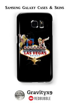 Las Vegas Welcome Sign Samsung Galaxy Cases & Skins  - This #LasVegasIcons design is also available on fashion, prints, home decor  and more at #Redbubble -