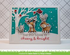 This Haus of Cards: Lawn Fawn September Inspiration Week: Cheery Christmas