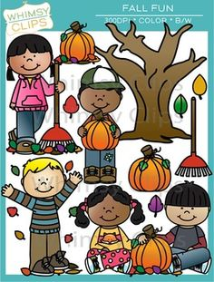 This Fall Fun clip art set is full of cuteness! This Fall clip art set contains 24 image files, which includes 12 color images and 12 black & white images in png. All images are 300dpi for better scaling and printing.