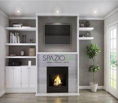 computer rendering fireplace logo