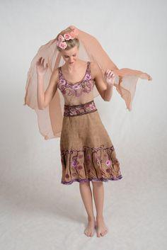 felted dress - Felt Collection JanaDesign from Jana Stejskalova