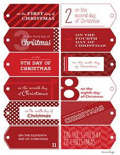 picture relating to 12 Days of Christmas Printable Tags identified as 52 Perfect Red 12 Times of Xmas Mary Kay Sale visuals inside