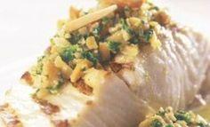 Broiled Fish with Orange Almond Cilantro Salsa