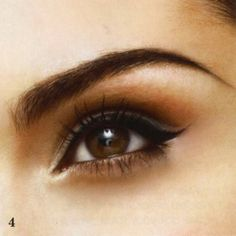 winged eye, orange and brown eyeshadow. | Ms Beaujoli |Beauty,life and style|: Sexy, sophisticated, smoldering eyes-for all eye types.