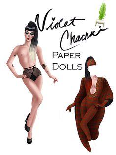 Violet Chachki Paper Dolls