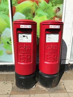 Post Box, Isle Of Wight, Twin, Boxes, Street, Phone, Crates, Telephone, Mailbox