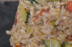 Recette - Risotto aux courgettes, poivrons grillés et tomates séchées | 750g