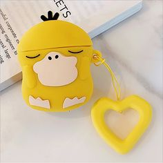 Psyduck Pocket Monsters Cartoon cute soft silicone case Airpods Case Earphones Headphone Stand Phone Cases Cover Clear Apple Airpod Pro Airpod Pro, Marketing And Advertising, Monsters, Phone Cases, Apple, Cartoon, Pocket, Cover, Handmade