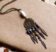Cosmic Moon Dreamcatcher Long Necklace
