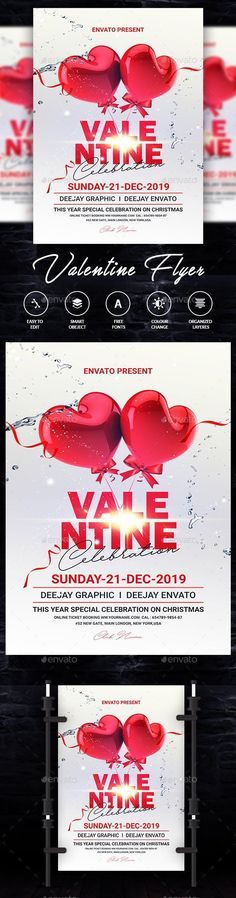 Buy Valentine by DUrgaDesigns on GraphicRiver. Flyer Design, Design Flyers, Sale Flyer, Event Flyer Templates, Event Flyers, Print Templates, Print Design, Valentines, February