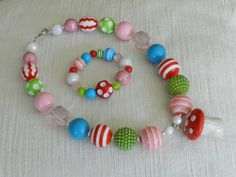 M2M Red Riding Hood Chunky Bubblegum Bead by ParadiseJewelryofCP, $24.00