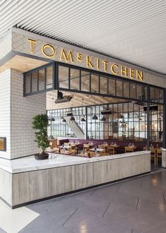 Outside Tom's Kitchen in the Zorlu Center
