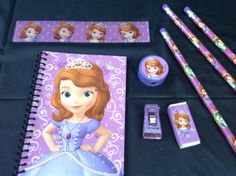 12 Disney Princess Sofia The First Loot/Goody Bags Party Favor / Favors Fillers- Pencil erasers, ruler sharpener School supplies Pink Purple on Etsy, $19.99