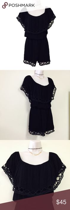 """MISGUIDED Black Romper 16 *Brand: Missguided  *Condition: Excellent; no signs of wear, only worn once.  *Size: 16  *Armpit to Armpit: 25"""" *Length: 29""""-30""""  ❗️BUNDLE FOR DISCOUNTS ❗️ Missguided Pants Jumpsuits & Rompers"""