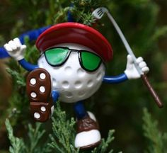 Be The Ball Golf Decor Hanging Christmas Tree Ornament & Display Stand, You Da Man Figurine Hanging Christmas Tree, Diy Christmas Ornaments, Christmas Tree Decorations, Halloween Decorations, Golf Ball Crafts, Golf Holidays, Golf Gifts, Ball Ornaments, Craft Gifts