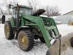 John Deere 7400 tractor salvaged for used parts. This unit is available at All States Ag Parts in Hendricks, MN. Call 877-530-6620 parts. Unit ID#: EQ-23787. The photo depicts the equipment in the condition it arrived at our salvage yard. Parts shown may or may not still be available. http://www.TractorPartsASAP.com