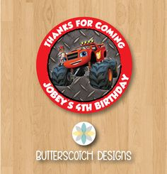 Personalized Blaze & The Monster Machines by ButterscotchDesign