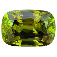 Natural Sphene step cut cushion, 22.38cts. More @ www.multicolour.com and #gemstones