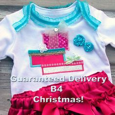 FAST SHIP Christmas Ruffle Diaper Cover SeT, Christmas Gift Appliqued Ruffle Bloomer SETs, Holiday Bloomers Baby Girls Toddler Infant 5928.