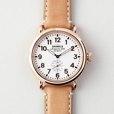 """airows: """" This Shinola watch is just beautiful. """""""