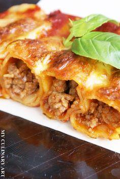 My Culinary Art: Cannelloni z mięsem mielonym w sosie pomidorowym